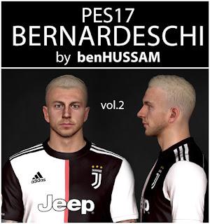 PES 2017 Faces Federico Bernardeschi by BenHussam