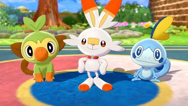 Pokemon Sword/Shield (Switch): versões especiais dos iniciais são distribuídas por meio do Pokémon Home