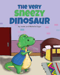 allergy childrens book dinosaur sneezing