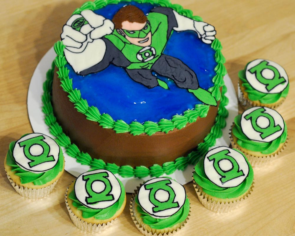A Special Friend Requested Little Different Kind Of Cake For His 6th Birthday He Wanted Green Lantern Because Is Favorite Superhero
