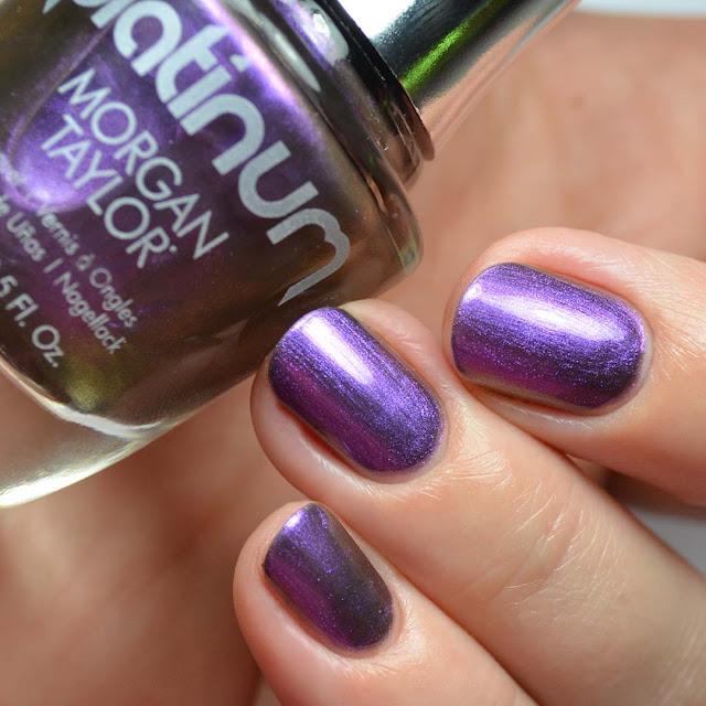 purple duo chrome nail polish