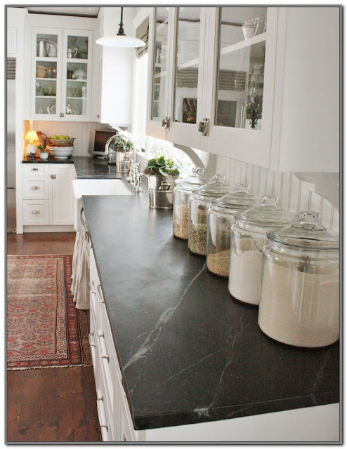 black kitchen countertops pros and cons