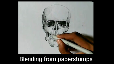 How to draw skull, easy to draw skull, drawing for kids, skull bone drawings