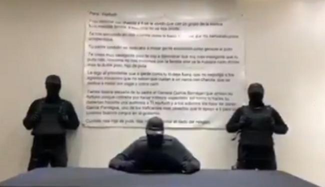 """Video; """"Cuidate rata hijo de put... que no voy a quitar el dedo del renglón"""", amenazan a Omar García Harfuch"""