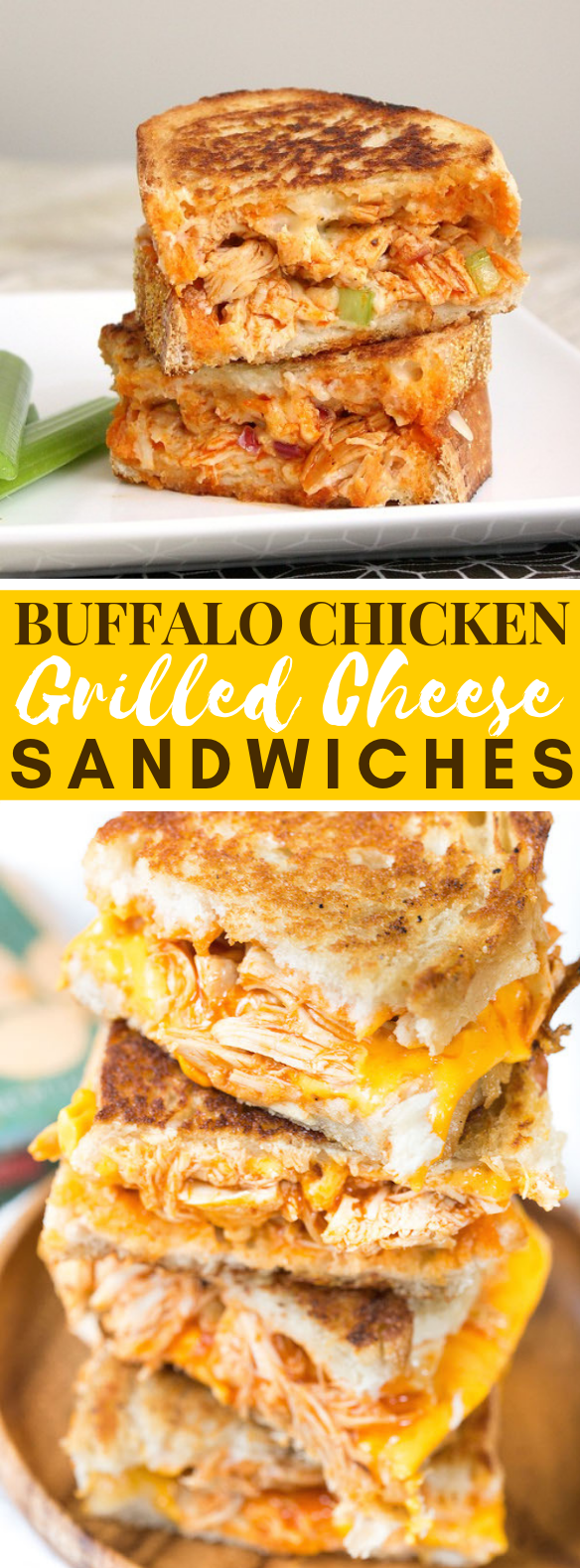 BUFFALO CHICKEN GRILLED CHEESE SANDWICHES #dinner #lunch
