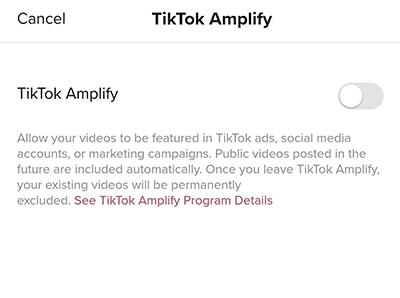 Cara Mengaktifkan TikTok Amplify
