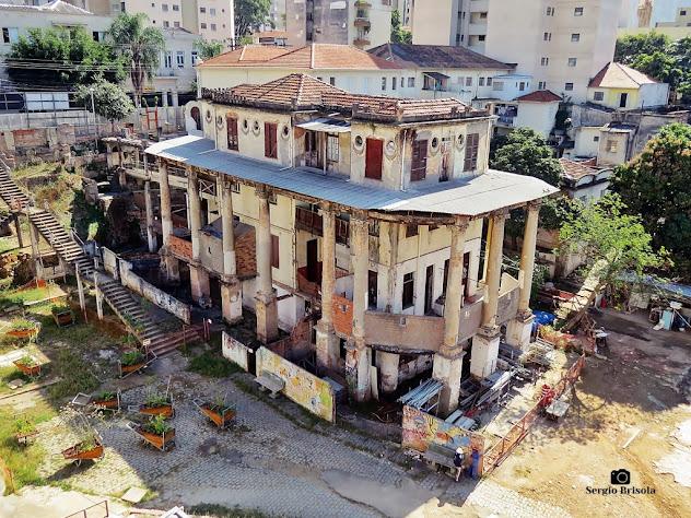 Vista ampla do casarão da Vila Itororó - Bela Vista - São Paulo