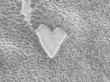 forma de corazon region polar sur