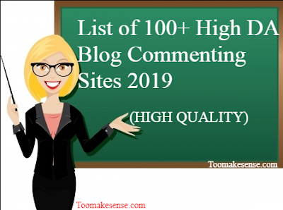 List of high DA blog commenting sites for 2019