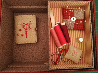 caja, boite, box, cartonnage, bordado, embroidery, broderie, punto cruz, cross stitch, point croix