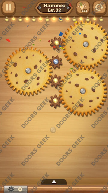 Fix it: Gear Puzzle [Hammer] Level 32 Solution, Cheats, Walkthrough for Android, iPhone, iPad and iPod