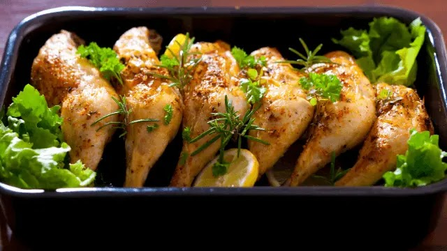 Grilled Mediterranean chicken thighs with Rosemary