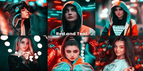 Red and Teal Lightroom Mobile Preset Free Download | New Lightroom Preset Download Free