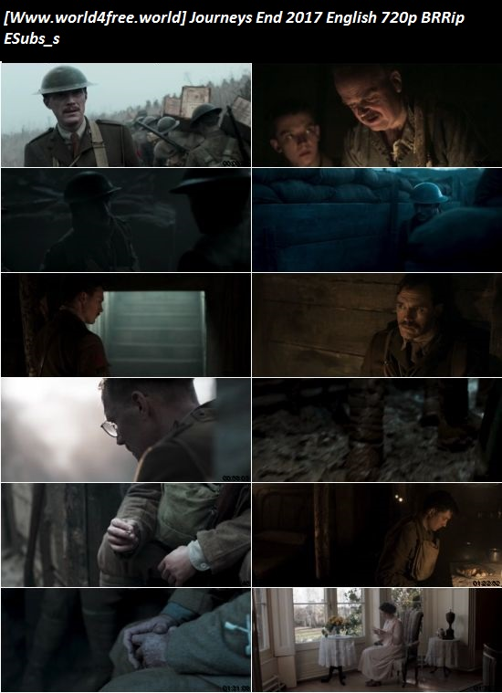 Screen Shoot Of Journeys End 2017 Full English 720p BRRip Movie Download