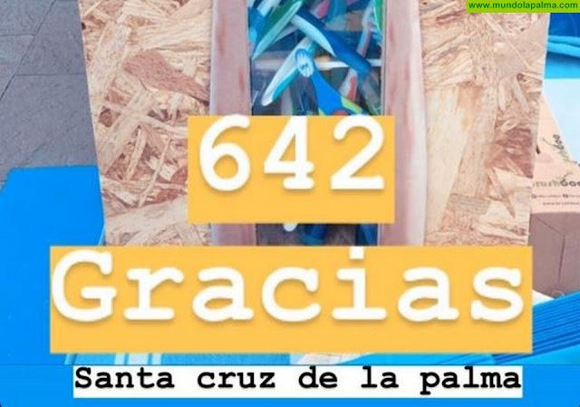 Cerca de 650 vecinos y vecinas de Santa Cruz de La Palma se sumaron a la campaña 'Por la sonrisa del planeta'