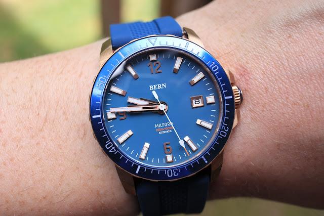 Bern Milford blue wrist