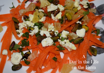 Carrot Salad with Pistachios and Feta