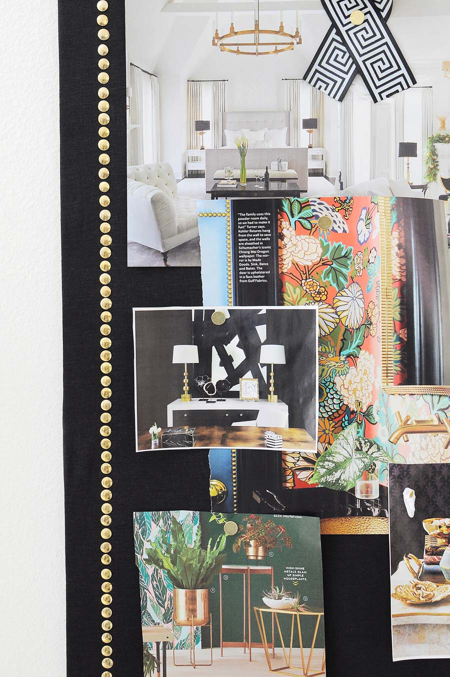 This chic cork or memo board is made from dollar store supplies and looks just like an expensive Restoration Hardware version. This DIY tutorial is great and the end result is stunning.