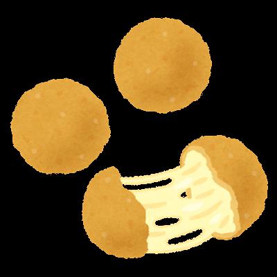 チーズボールのイラスト