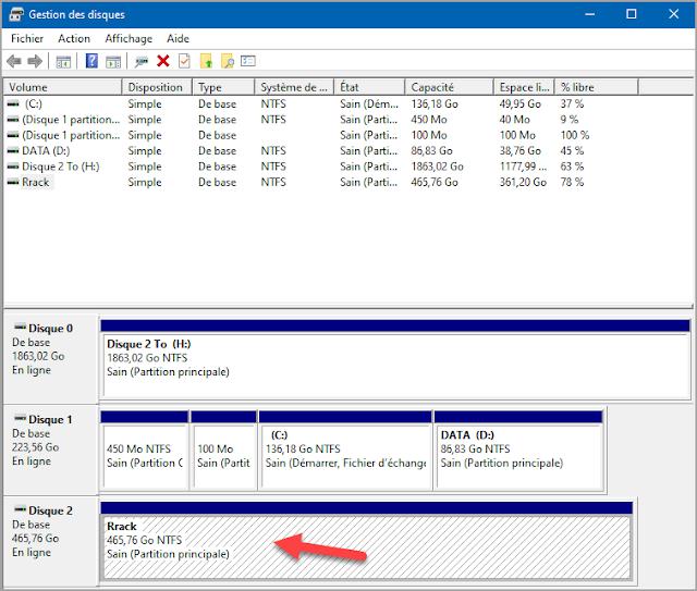 Mots-clés : Cacher, masquer, une partition, un lecteur, gestion du disque, Windows 10, sécurité, administration, trucs, astuces, comment faire, protéger l'ordinateur.