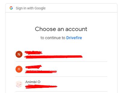 Pilih salah satu akun google
