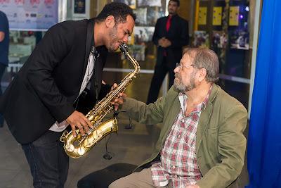 Carlos Vereza com o Saxofonista Thiago Astory