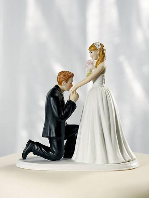 pedido de casamento topo de bolo