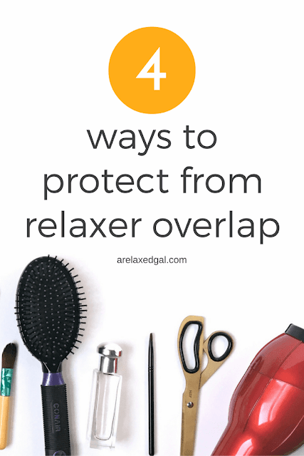 4 things you can do to protect your hair from overlap and overprocessing during a relaxer touchup. | arelaxedgal.com