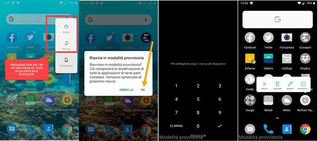 abilitare la modalità provvisoria in Android