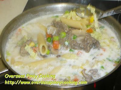 Beef Sopas, Beef Buto Buto - Cooking Procedure