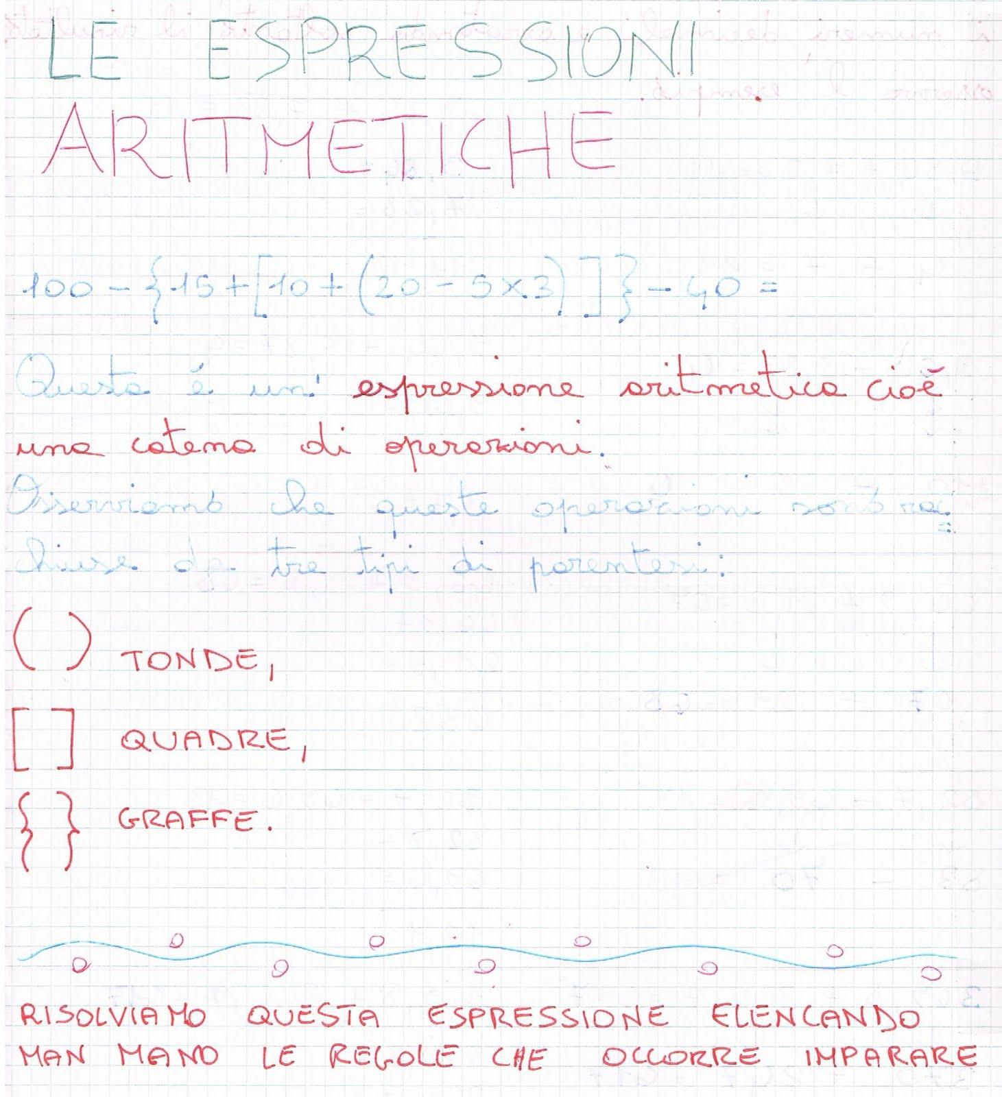 Le Espressioni Aritmetiche