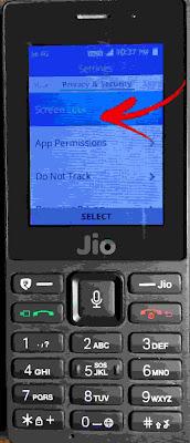 Jio Phone मे Password कैसे लगाए
