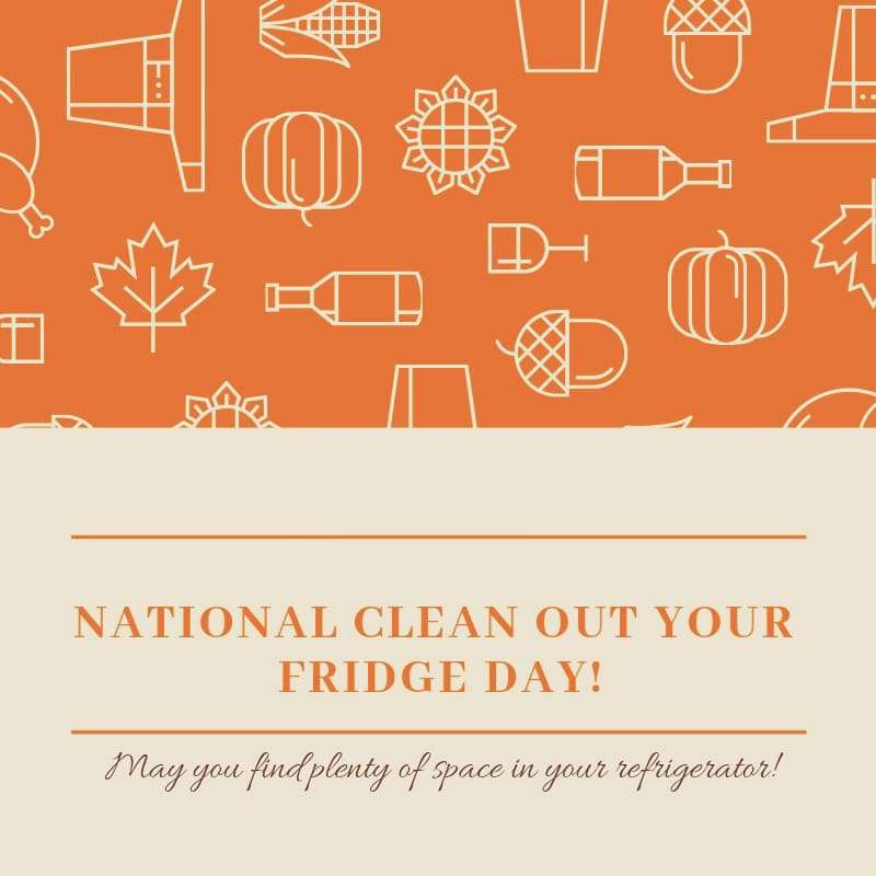 National Clean Out Your Fridge Day Wishes Unique Image