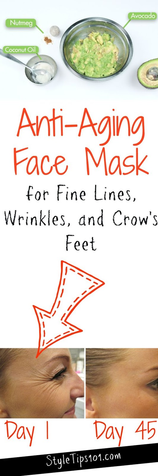 HOMEMADE ANTI-AGING FACE MASK FOR FINE LINES & WRINKLES