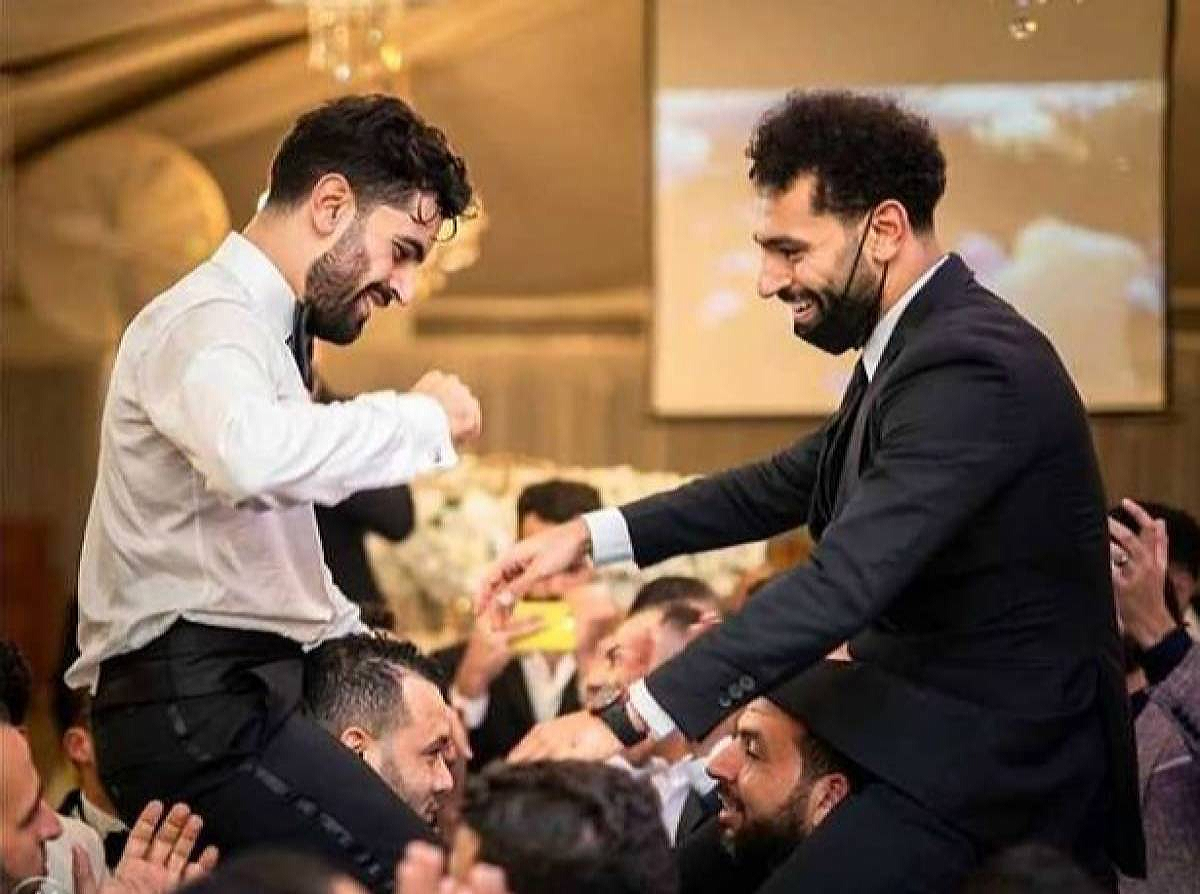 Mohamed Salah at brother's wedding.