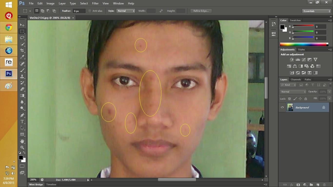 Cara Menghilangkan Jerawat Menggunakan Adobe Photoshop It Jurnal Com