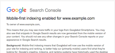 Official Google Webmaster Central Blog: Rolling out mobile-first indexing