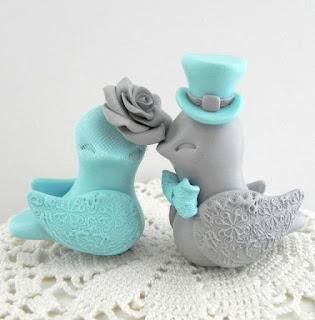 Romantic Ducks Wedding Cake Topper