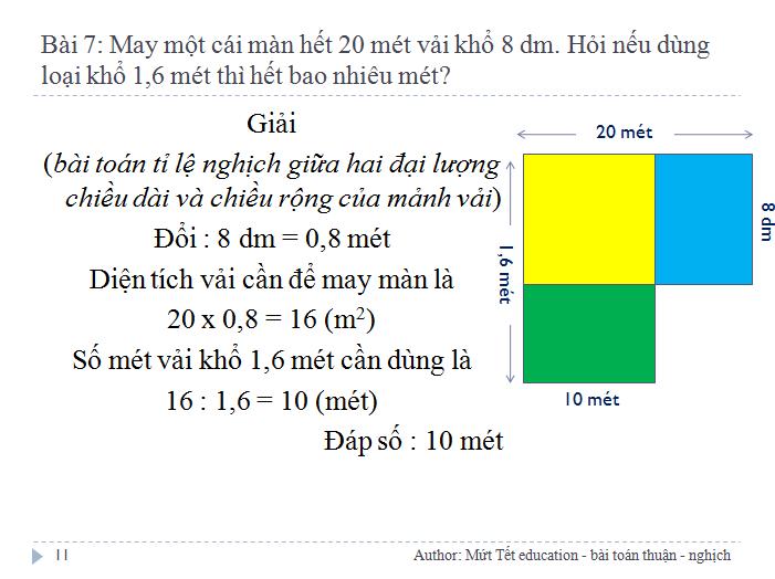 Các dạng bài toán tỉ lệ thuận - nghịch - Toán 5 (Tiết 1) (11)