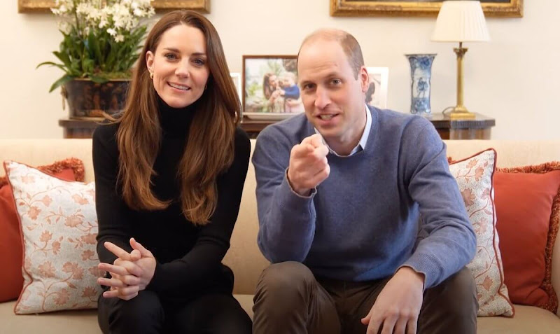The Duke and Duchess shared a fun first video on their social media channels. Kate Middleton wore a black sweater and trousers