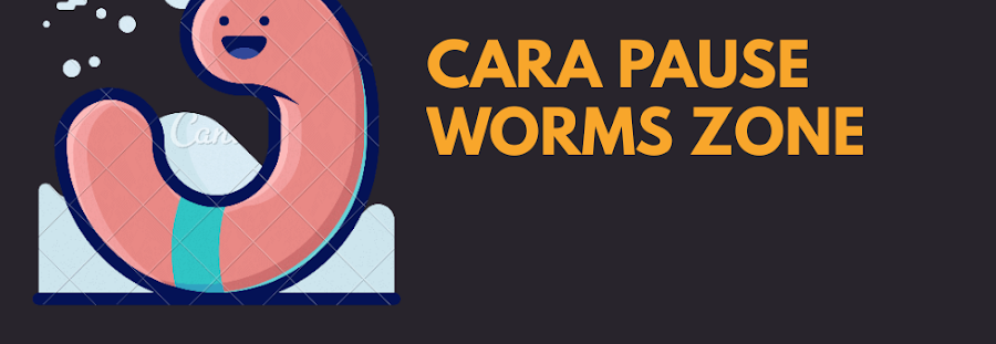 (100% Work) Cara Pause Game Worms Zone (Zona Cacing)