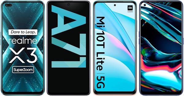 Realme X3 Super Zoom vs Samsung Galaxy A71 vs Xiaomi Mi 10T Lite 5G vs Realme 7 Pro