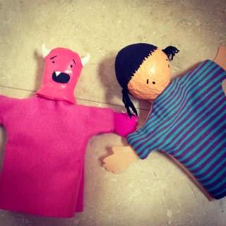 DIY marionetas títeres Yo mataré monstruos por ti