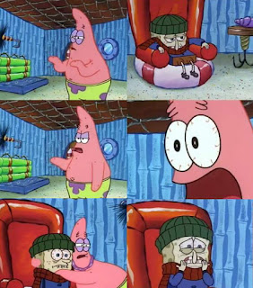 Polosan meme spongebob dan patrick 46 - spongebob sakit flu / pilek