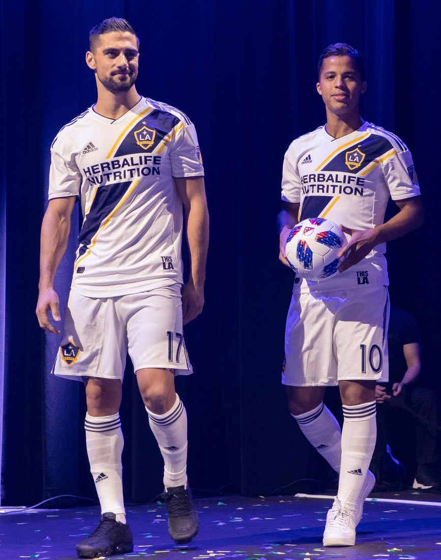 """fc444154b The signature """"This Is LA"""" jock tag returns to the LA Galaxy 2018 home  jersey"""