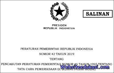 Peraturan Pemerintah Nomor 42 Tahun 2019