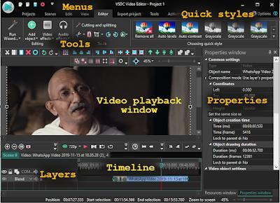 VSDC free video editing tool