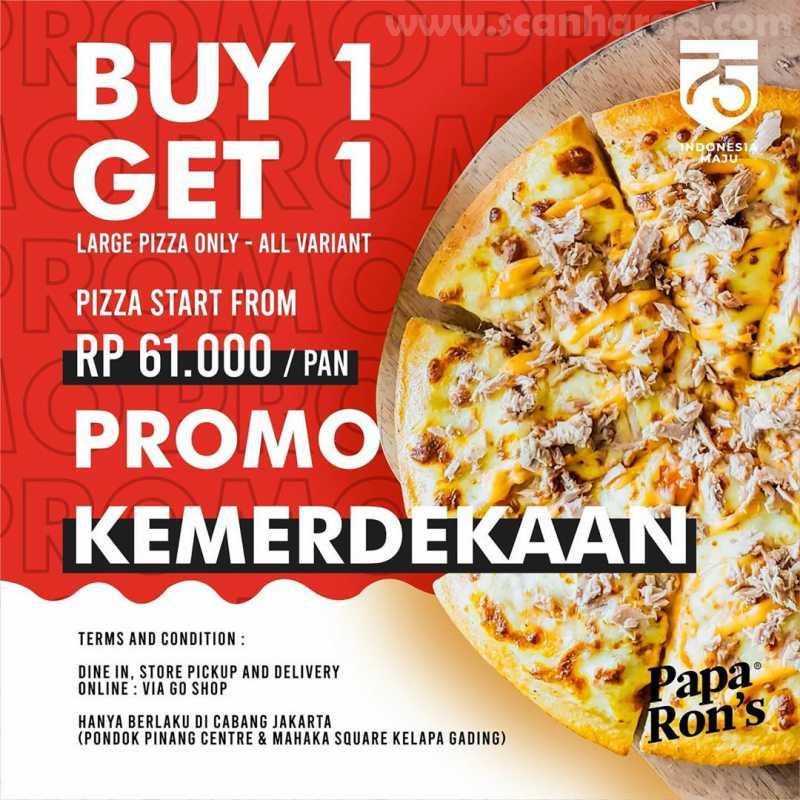 Promo Papa Rons Pizza