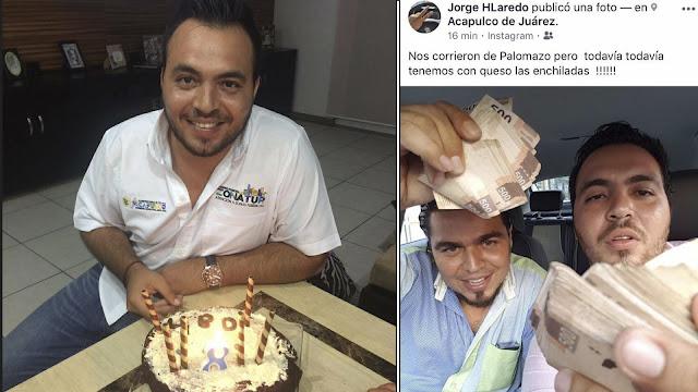 Funcionario del Gobierno Municipal de Acapulco presume en facebook fajos de billetes