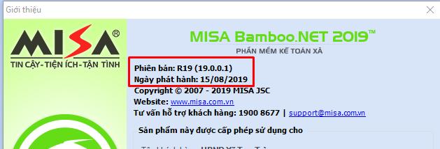 Cập nhật Misbamboo.net 2019 phiên bản cuối R23.2 (11/02/2020)